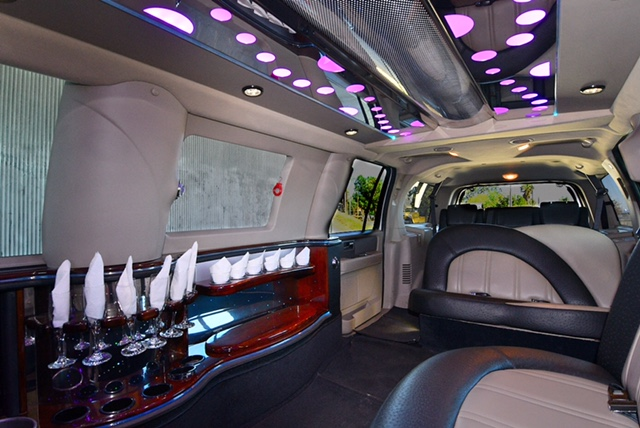 Inside the party limo!